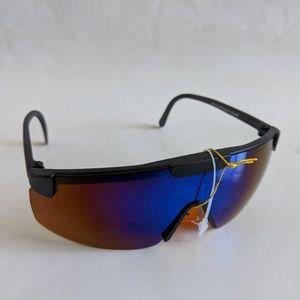 Vintage blade wrap true blue blocker sunglasses